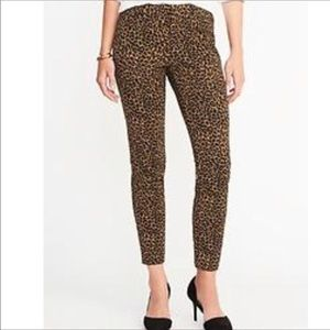 🆕 Old Navy Leopard Ankle Mid-rise Pixie Pants 6